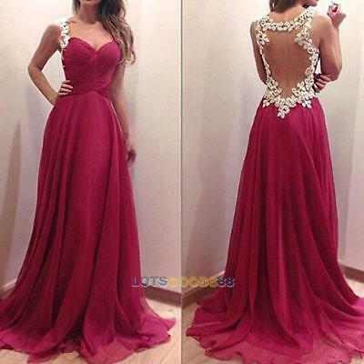 Sexy Womens Bridesmaid Ball Prom Gown Formal Evening Party Cocktail Long Dress