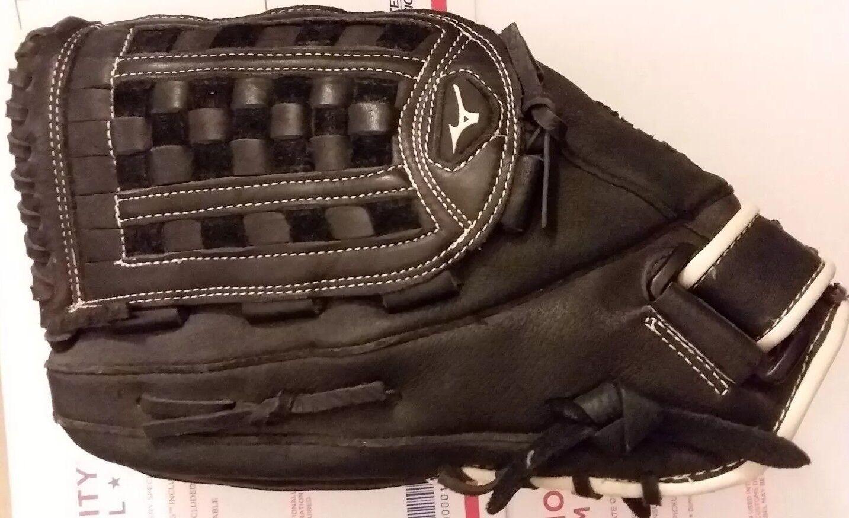 Mizuno Negro De Cuero Modelo Pro 14  béisbol Mity GPM1400 lefthandthrow Muy Bueno + Estado aceptable Envío y gestión