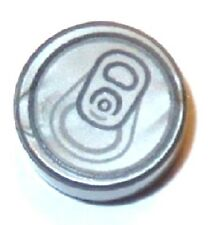 LEGO SODA CAN TOP ~ Round Gray 1x2 Tile with Pop Tab Pattern Simpsons 71016 NEW