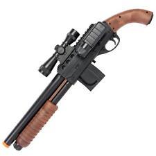 Smith & Wesson Airsoft Pistol Grip Mad Max Shotgun + Scope Flashlight Extra Mag