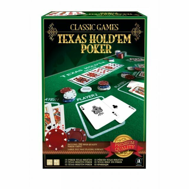 Texas Hold Em Poker Classic Games Collection Felt Mat Casino Chips 2 Decks Set For Sale Online Ebay