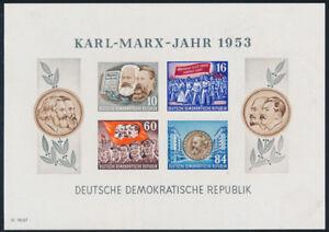 DDR-1953-Block-9-B-YII-postfrisch-II-Wahl-gepr-BPP-VP-Mi-160