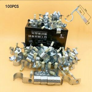 100pcs 20mm Pipe clamp integrated nail For Rivet Gun Tool Grooving Device