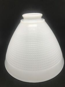 Vintage-Diffuser-Lamp-Shade-Corning-No-820120-White-Milk-Glass-Waffle-Pattern-8-034