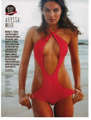 2011 Swimsuit Model Alyssa Miller Bikini Magazine Page Photo Ad HOT!