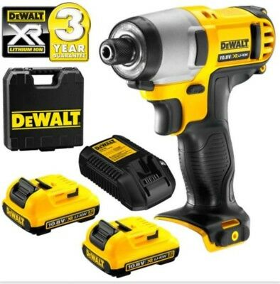 DeWalt DCD710N 10.8v XR Drill Driver with 2 x 2.0Ah DCB127 Batteries /& Charger