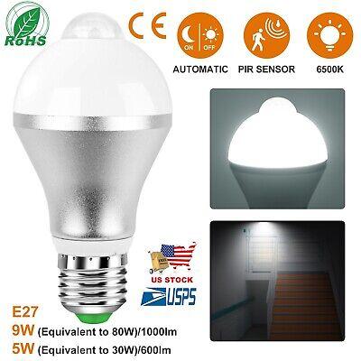 5//7W//9W E27 LED PIR Motion Sensor Auto Energy Saving Light Lamp Bulb Infrared AO