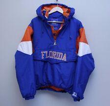 Vintage Florida Gators Starter Pullover Hood Jacket Blue Orange White 90s M FAST