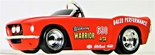 1 Pedal Car Ford Mustang 1960s Hot Rod Vintage Red Midget Metal Body Show Model