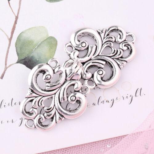 10pcs Swirl Flower Cape Cloak Clasp Fasteners Hooks/&Eyes Cardigan Clip Button