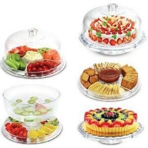 De S About  Multi Function Server 12 Inch Cake Stand Dome Chip Platter Punch Bowl New