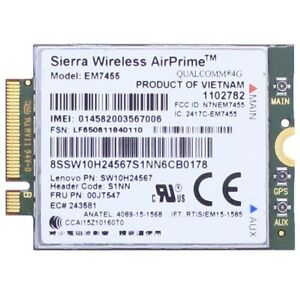 Details about Lenovo Thinkpad X260 T460 P70 00JT547 Sierra EM7455 GOBI6000  4G LTE WWAN Module