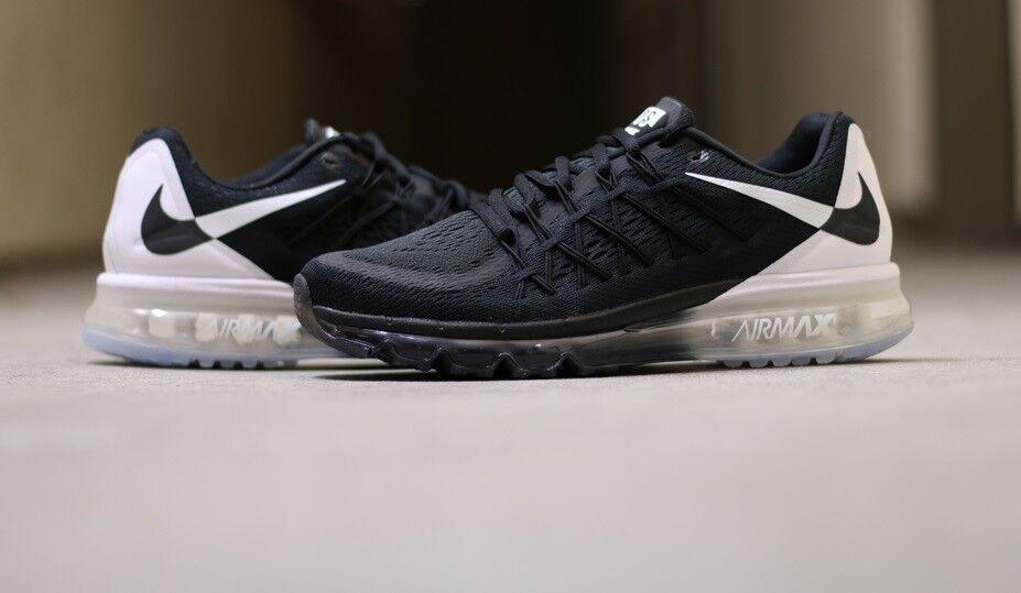 Nike air max 2015 uomini in scarpe da ginnastica nuove, di colore bianco 789562-001 oreo sku aa