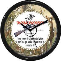 Windchester Guns & Rifles Wall Clock Man Cave Den Gun Shop Decore Gift