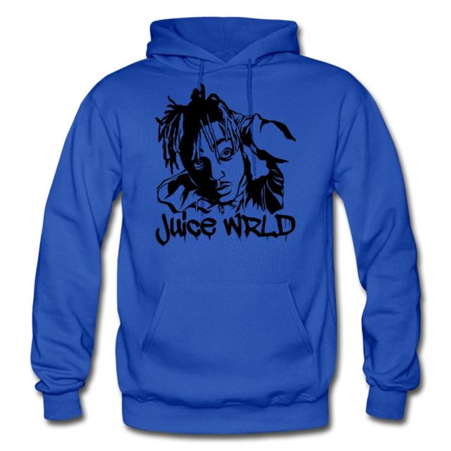 Unisex Singer Juice Hoodies Set Pullover Pants Two-Piece Sweatshirt Suit for Rapper Fans