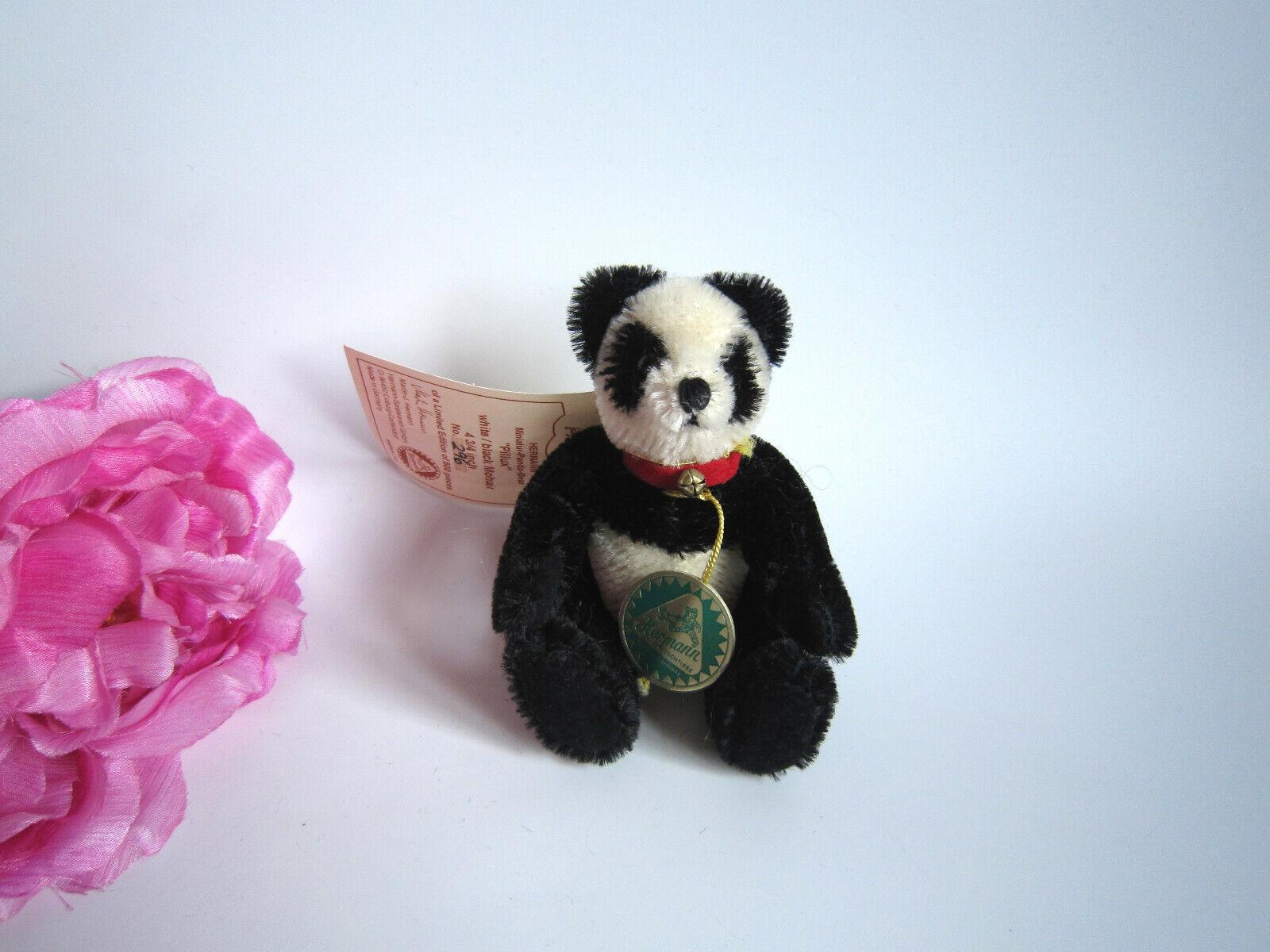 Hermann miniature Panda bear 5''. Ltd. New with tags. Perfect.