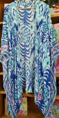 Lilly Pulitzer Island Caftan Serene Blue Tropi Cal