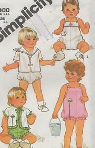Toddler-Sunsuit-and-Jacket-Sewing-Pattern-Size-3-Simplicity-5523-Uncut