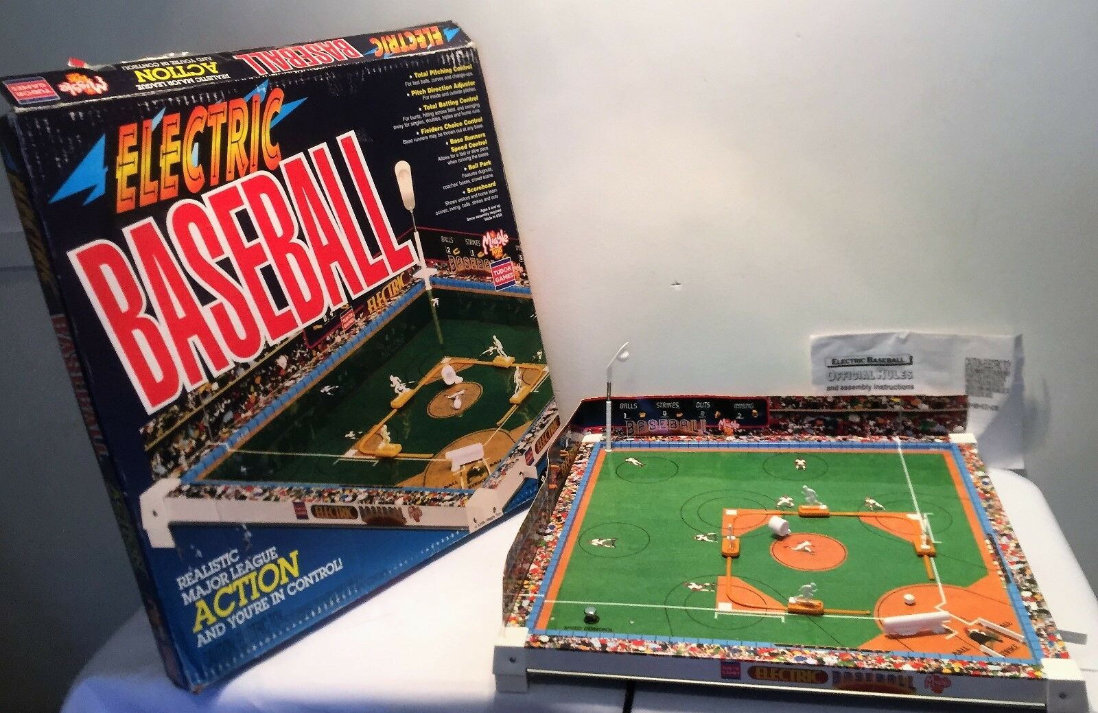 1998 Tudor Electronic Baseball Game Complete in Great Condition FREE SHIPPING
