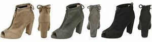 F1R0724-Ladies-Spot-On-Microfibre-Heeled-Ankle-Boots-Zip-amp-Bow-Detail-3-Colours