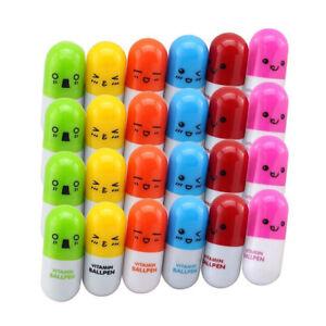 24pcs-Vitamin-pill-Ballpoint-Pen-Novelty-Retractable-Gift-Ball-pen-with-Sm-S4E8