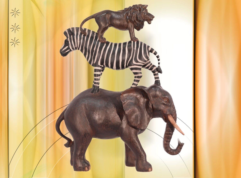 Elefant Zebra Löwe Trumpeltiere Afrika Musikanten auf dem Weg nach Hamburggipfel