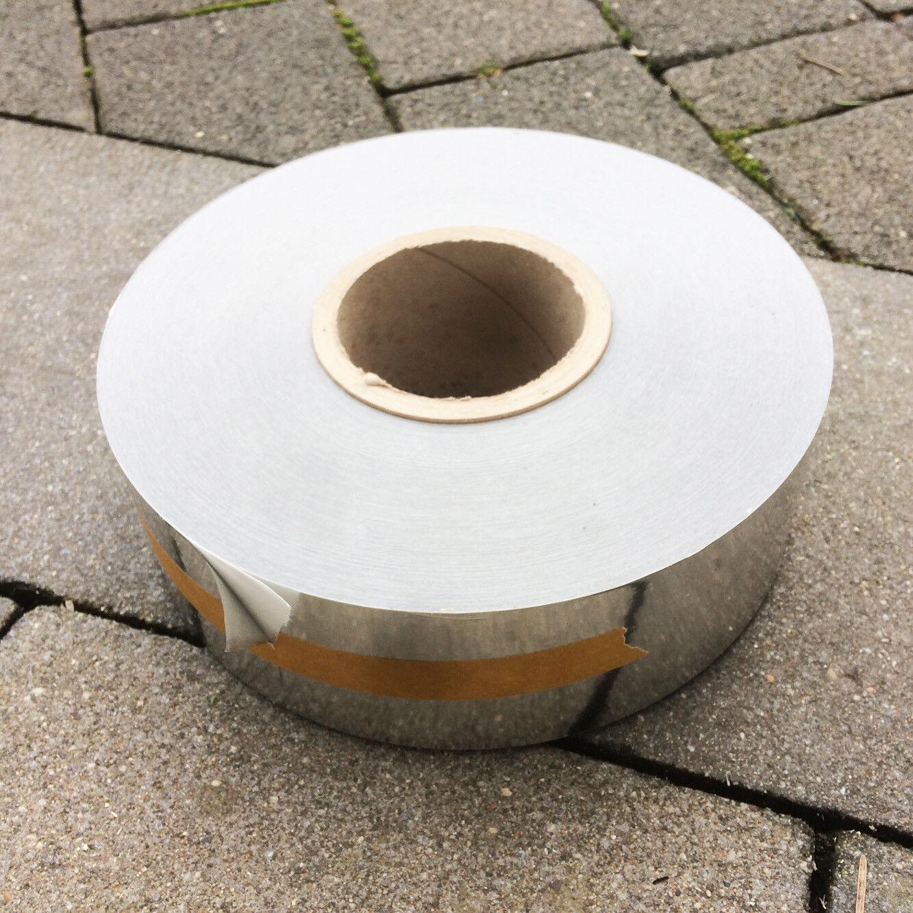 Klebeband Dichtband Sperrband metallisch chrom Länge ca: 150m x Breite ca: 68mm