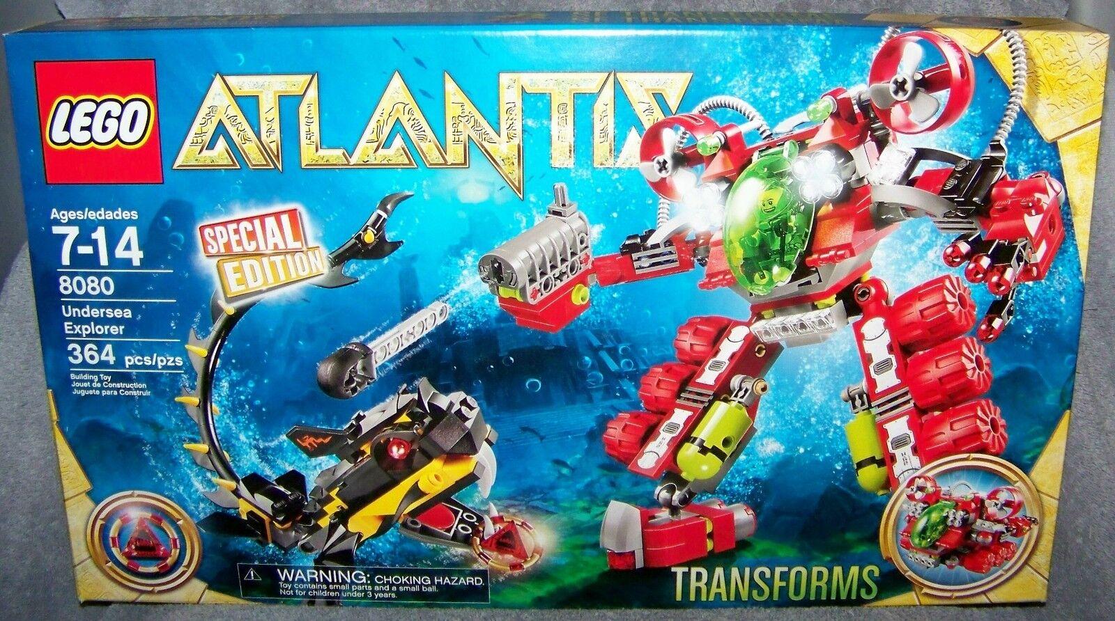 LEGO ATLANTIS 2010 ATLANTIS UNDERSEA EXPLORER SPECIAL EDITION  8080 AGES 7-14