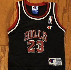 sports shoes 0d6a7 50ec3 Details about Good Vintage Champion Chicago Bulls Michael Jordan Jersey sz  3T (Toddler)