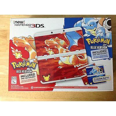 BNIB NEW NINTENDO 3DS POKEMON 20TH ANNIVERSARY CONSOLE W/ WHITE COVER