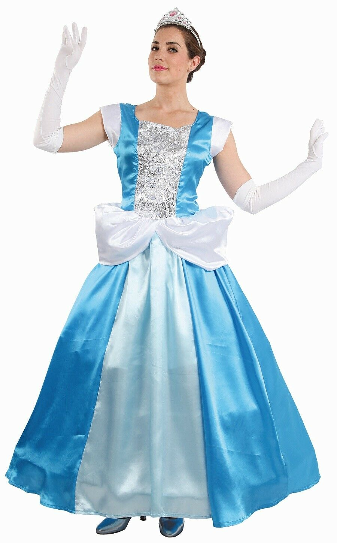 Déguisement Femme Princesse CENDRILLON blue M 40 Dessin Animé NEUF Pas cher