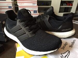 ADIDAS ULTRABOOST 3.0 CORE BLACK/WHITE  BA8842 ULTRA BOOST