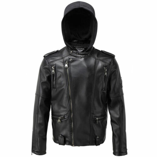 KILLSTAR® Mens Ryder He's Bad Moto Jacket Biker Goth Gothic Punk Vegan Leather