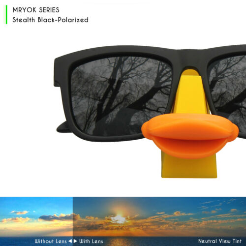 MRY POLARIZED Replacement Lenses for Fives Squared Sunglasses Stealth Black
