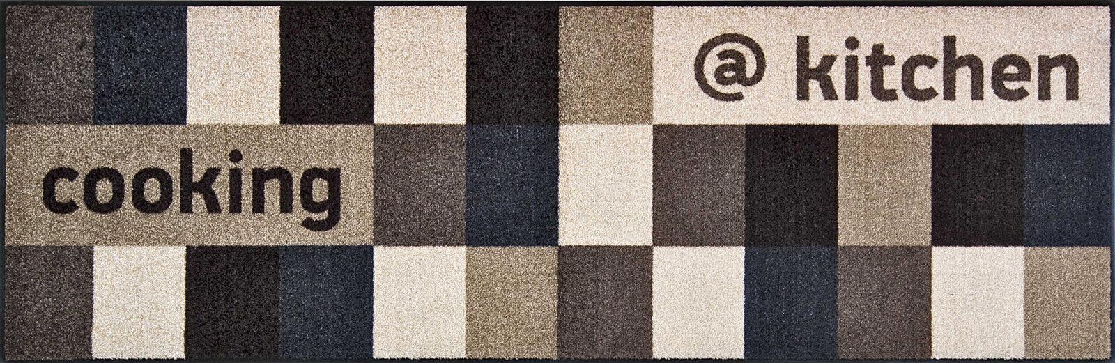 Wash + dry Teppich waschbar Fußmatte Bodenmatte at at at kitchen braunish 60  x 180 cm 905350