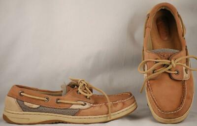 Women's Shoes Comfort Shoes Punctual Women's Sperry Top-sider Billfish Tan Leather Boat Shoes 6 M