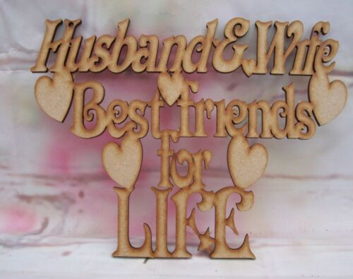 Husband and wife Best Friends Craft blank Keepsake