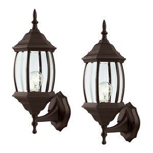 2-Pack-of-Outdoor-Exterior-Wall-Lantern-Light-Fixtures-Oil-Rubbed-Bronze