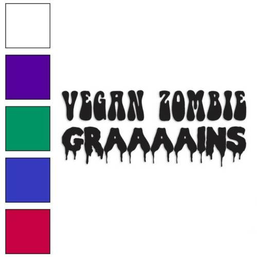 Grains Vegan Zombie Decal Sticker Choose Color Size #3731