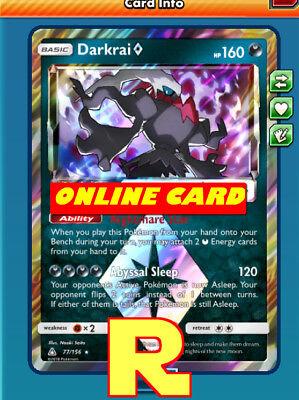 Pokemon Card TCG Darkrai 77//156 Prism Star Online Card PTCGO Digital Card