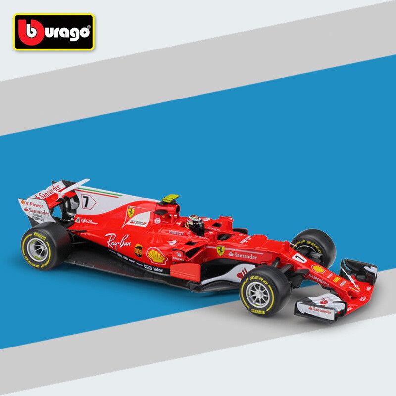 Bburago 2017 échelle 1 18 Ferrari F1 SF70H 7  Kimi Räikkönen Racing Diecast Toys