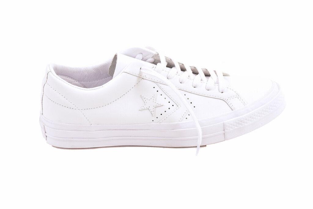 Converse Unisex Leather 160282 Turnschuhe Weiß Größe UK 5   BCF87
