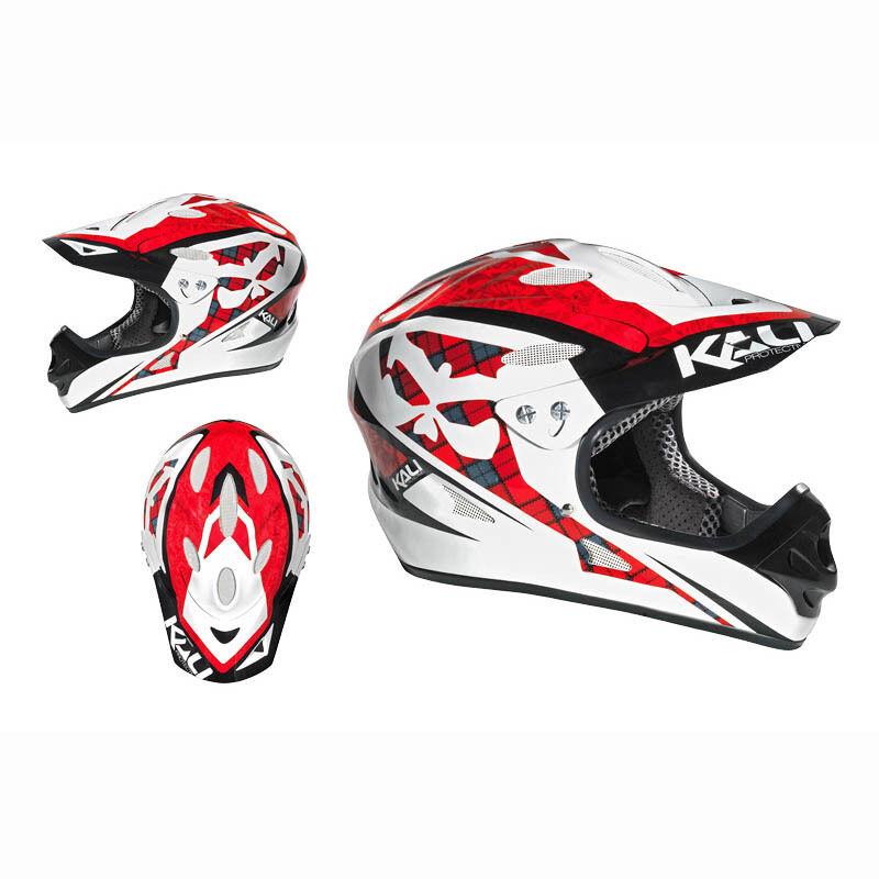 Kali Durgana blanco rojo, Downhill Full Face Helm, XL,   NEU     hasta un 60% de descuento