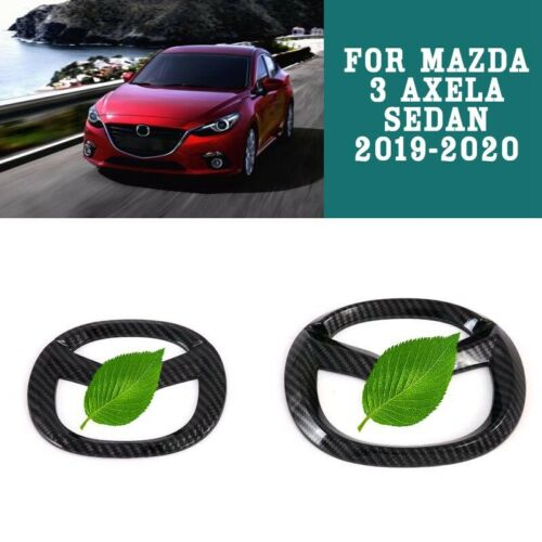 Front Rear Emblem Badge Symbol Logo Cover Trim For Mazda 3 Axela Sedan 2019-2020