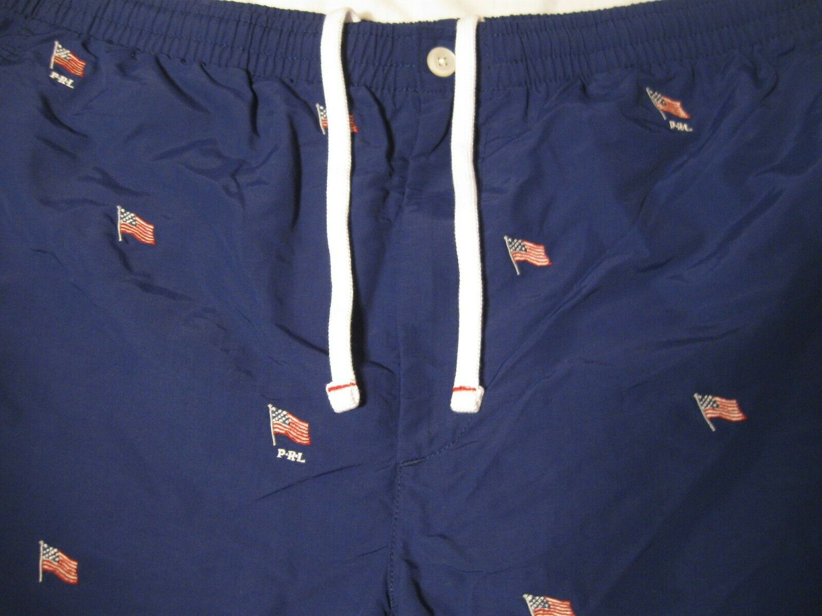 Polo Ralph Lauren Mens Swim Trunks American Flag NWT XXL Navy