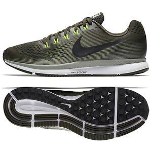 662efd2f8cf0c Nike Air Zoom Pegasus 34 880555-302 Sequoia Black Dark Stucco Men ...