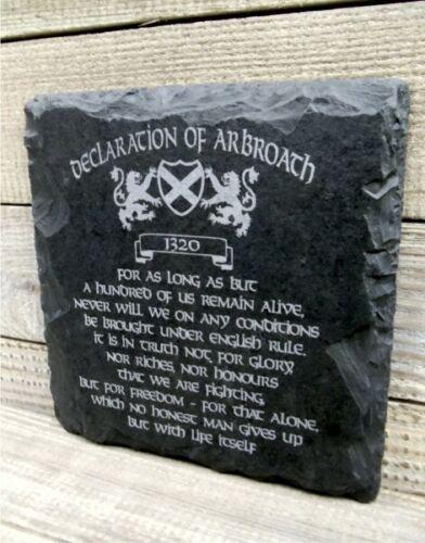 Declaration Of Arbroath Slate Wall Plaque RUSTIC