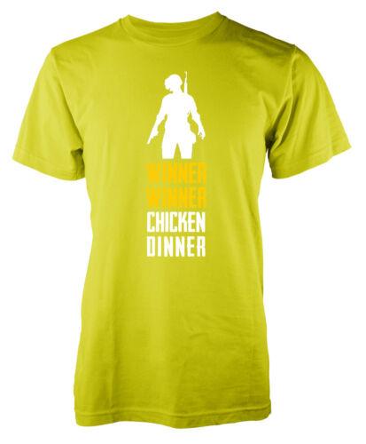Joueur inconnu Battleground Vainqueur Winner Poulet Dîner Blanc Kids pubg T-Shirt