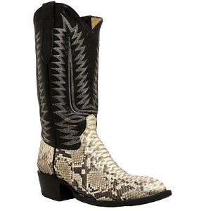 Cowtown-Men-039-s-Back-Cut-Python-Western-Boot-W808