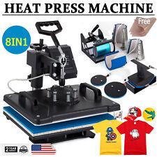 8 In 1 T Shirt Heat Press Machine 12x15 Sublimation Combo Kit Swing Away